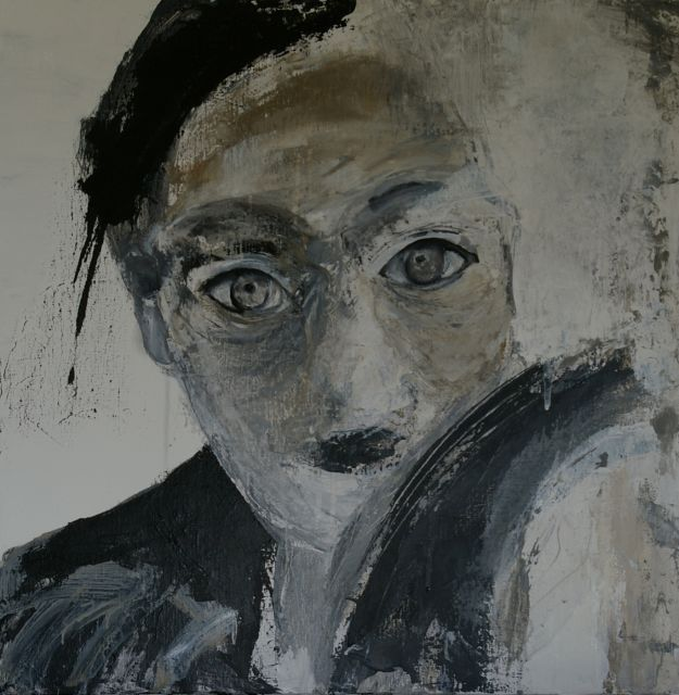 Série portrait - Painting,  50x50 cm ©2012 by Mpb -