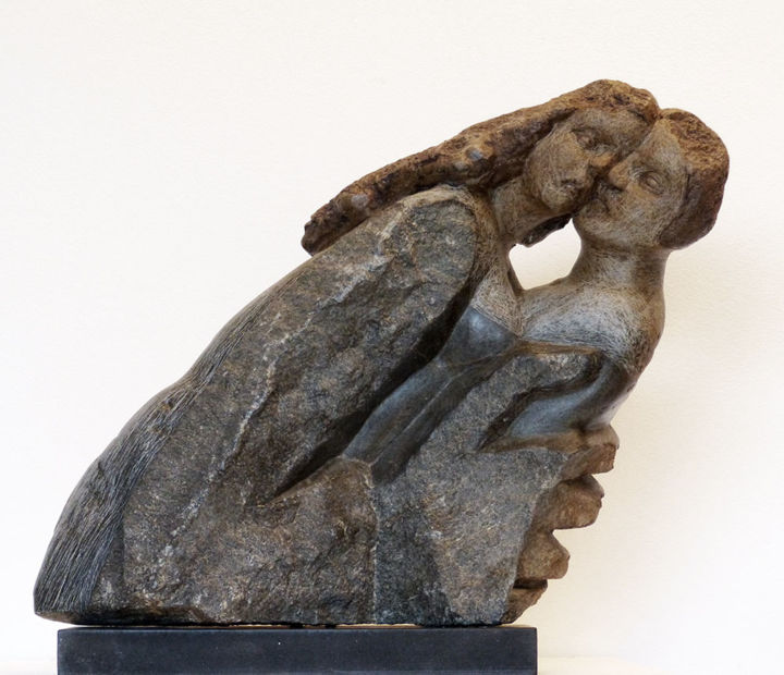 Valse d'Amour - Sculpture ©2016 by Marianne Monnoye-Termeer -                                        Stone, Love / Romance