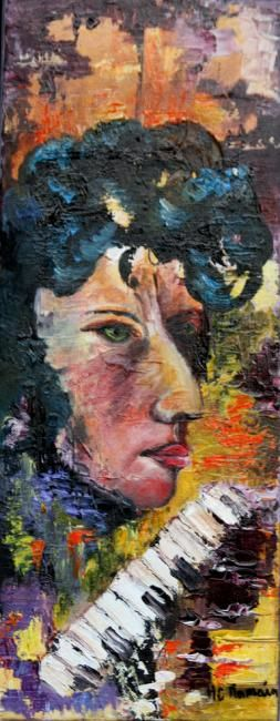 Painting,  20 x 50 cm ©2012 by Marie Claude Ramain -  Painting