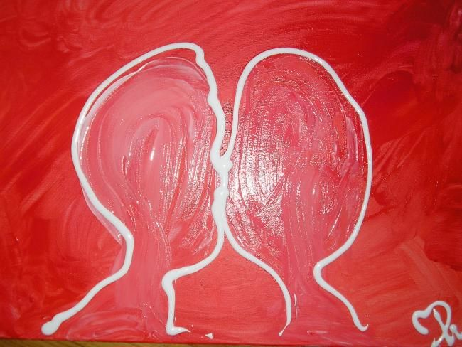 Les Bisous D Amour Painting By Mpi Artmajeur