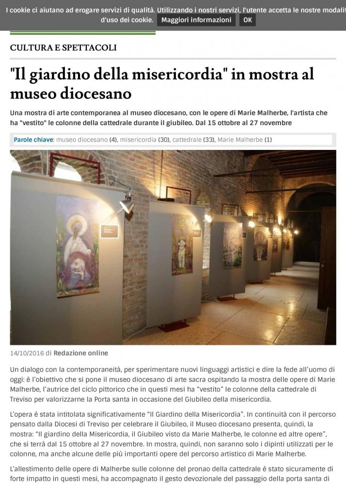 The Garden of Mercy exhibited in the Cathedral Museum, Treviso, October 15th 2016