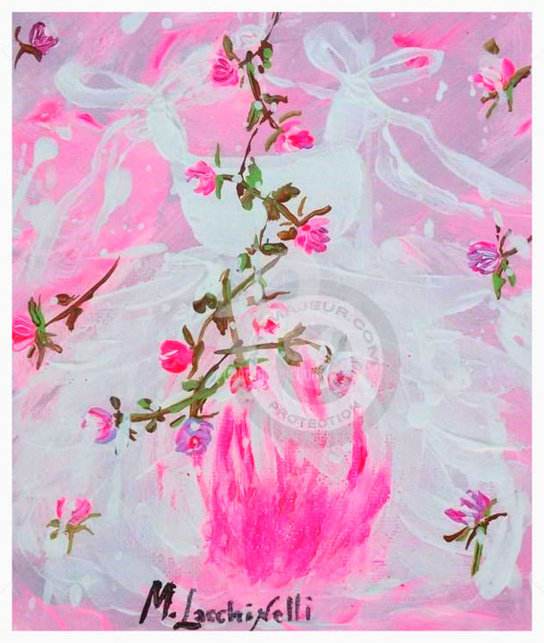 **TUTU' CANDY ROSE** - Painting ©2015 by Marilena Lacchinelli -            Tutu painting, Lacchinelli
