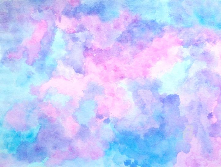 Pastel - Painting,  8.3x11.8 in, ©2018 by Lea -                                                                                                                                                                          Abstract, abstract-570, Abstract Art