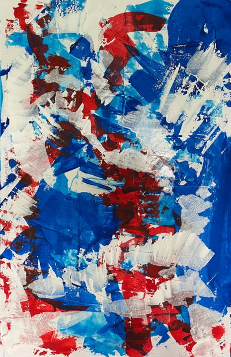 """Painting titled """"In the mood (115 cm…"""" by Marion Witschel, Original Art, Acrylic"""
