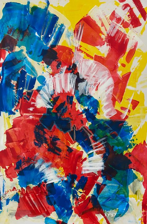 """Painting titled """"Colour for life 1 (…"""" by Marion Witschel, Original Art, Acrylic"""