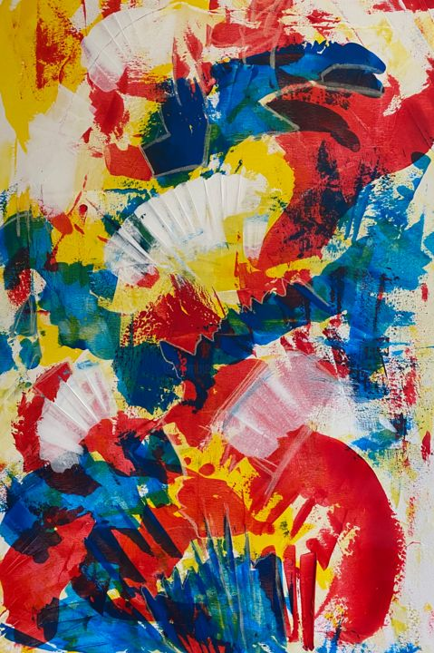 """Painting titled """"Colour for life 2 (…"""" by Marion Witschel, Original Art, Acrylic"""