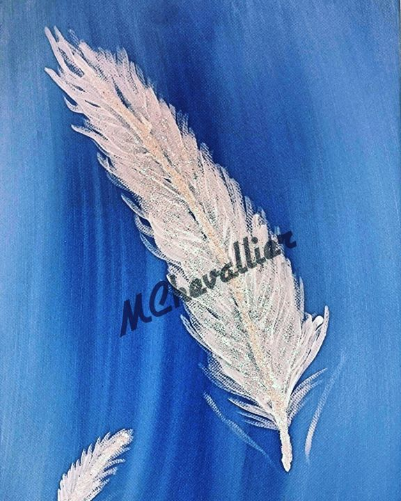 """Painting titled """"Feather"""" by Marion Chevallier, Original Art,"""