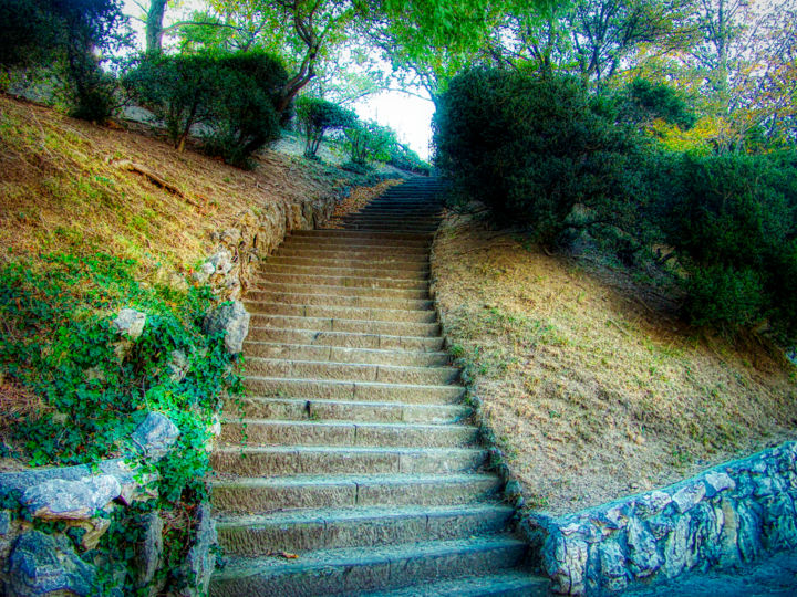 """Photography titled """"Stairs to Heaven"""" by Marian Bogatu, Original Art, Manipulated Photography"""