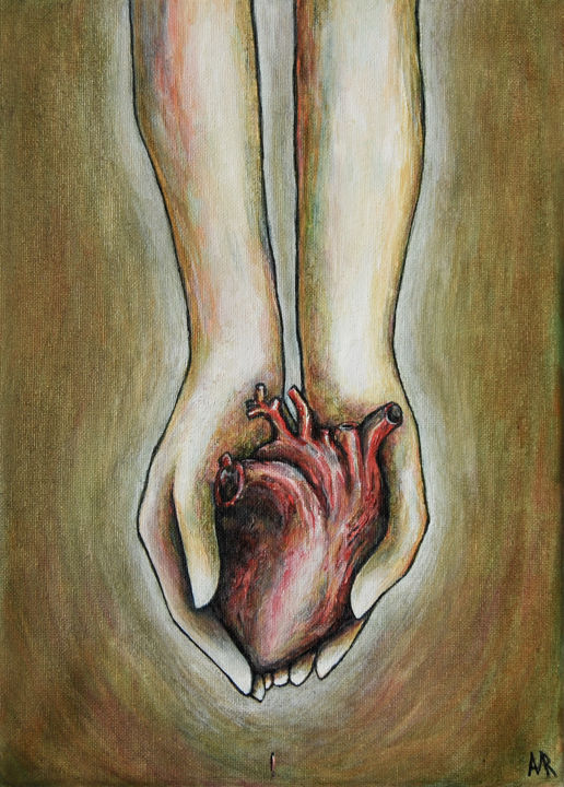 """Painting titled """"My heart is in your…"""" by Mariya Markina, Original Art, Oil"""