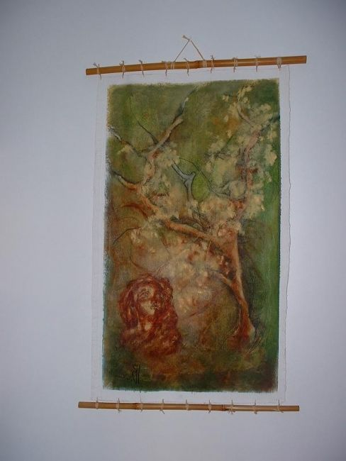 l'aurore - Painting,  0.5x0.4 in, ©2006 by Isabelle Bonebeau -