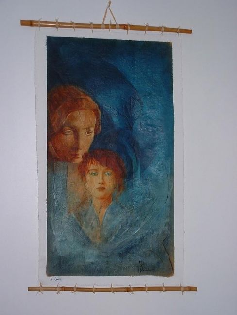 a camille - Painting,  0.3x0.2 in, ©2005 by Isabelle Bonebeau -