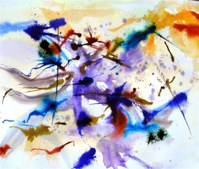 abstraction - Painting ©2010 by Marjyne -