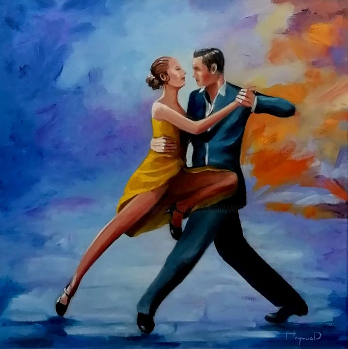 """Painting titled """"Twighlight Tango"""" by Mark Haywood, Original Art, Oil"""