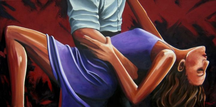 """Painting titled """"Embrace"""" by Mark Haywood, Original Art, Oil"""
