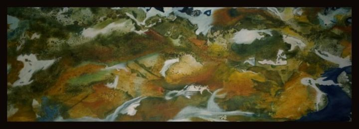 """Painting titled """"Terra"""" by Marlima Win, Original Art, Watercolor"""