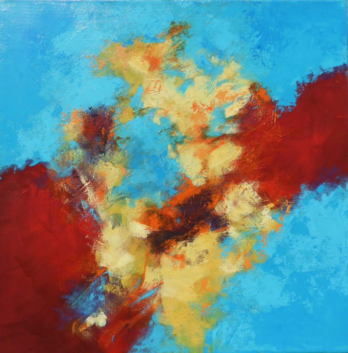 """Painting titled """"Red Passage"""" by Martha White, Original Art, Acrylic"""