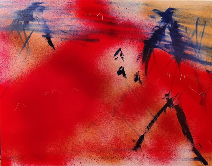 """Painting titled """"Mars abstract"""" by Martin France, Original Art, Acrylic"""