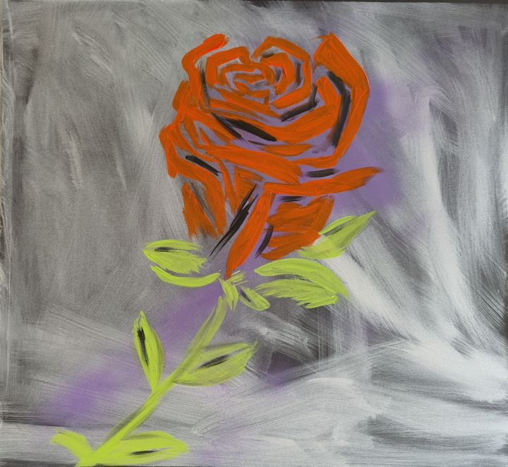 """Painting titled """"Motivation ROSE"""" by Martin France, Original Art, Acrylic"""