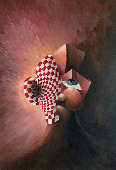 Martinlegnechev Locked Faces The Sad Clown Painting By