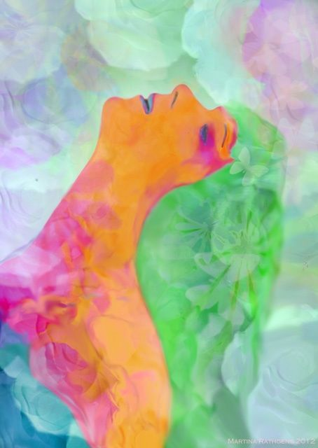 Digital Arts,  60 x 80 cm ©2012 by Martina Rathgens -  Digital Arts, Digital Painting, digital painting girl perfume love