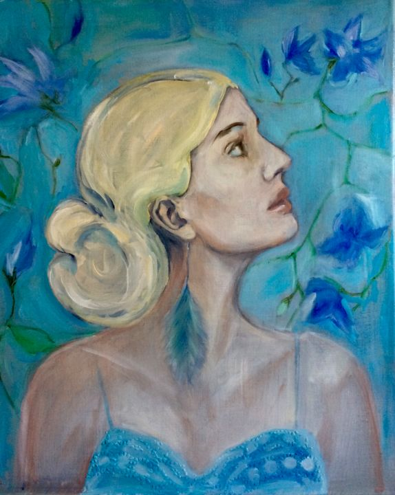 Painting, oil, figurative, artwork by Martins Marie Pascale