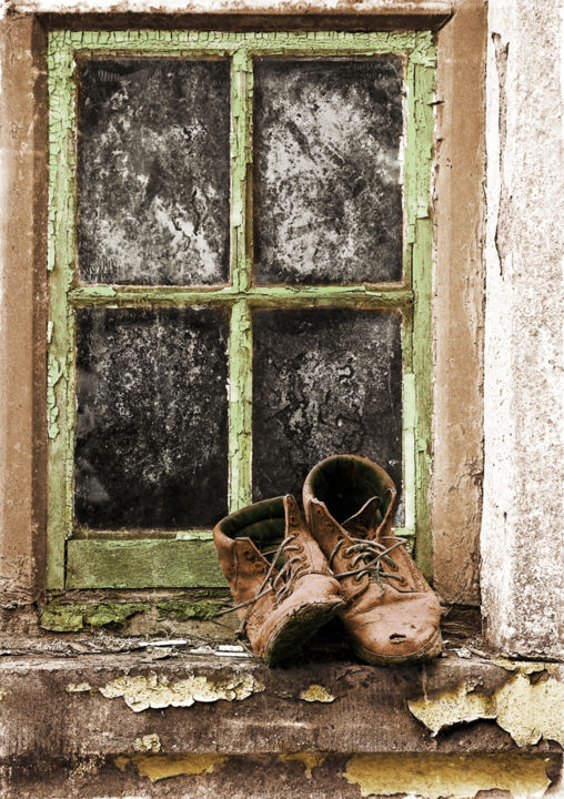 """Photography titled """"Old Boots"""" by Garland, Original Art, Digital Photography"""