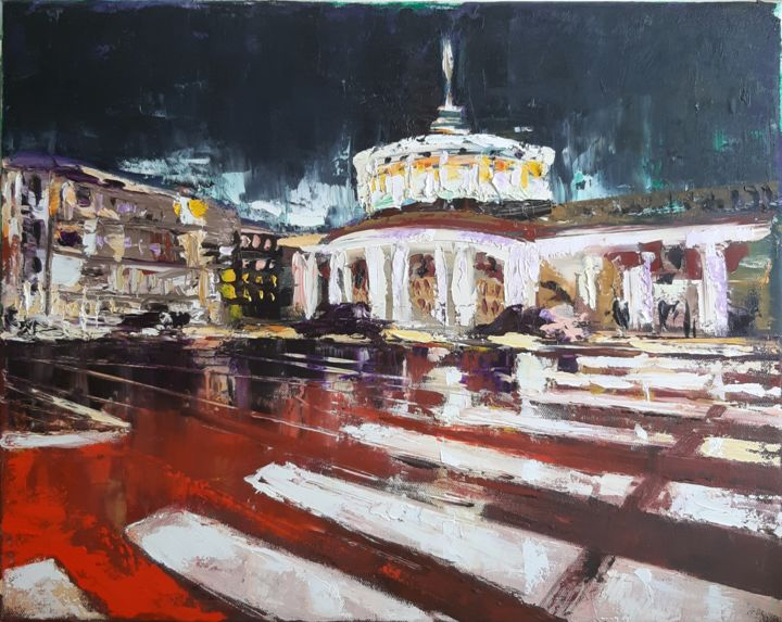 """Painting titled """"Nevskiy"""" by Marusha, Original Art, Oil Mounted on Stretcher frame"""