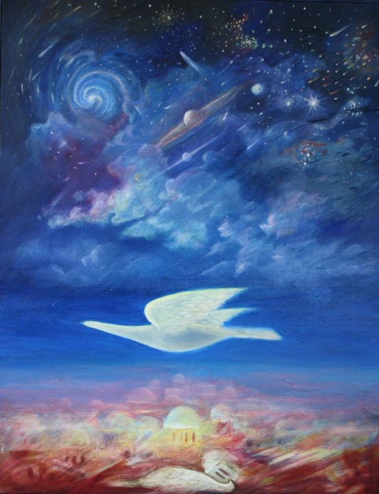 Voyage - Painting,  81x64 cm ©2006 by Marwanart -                                                            Contemporary painting, Canvas, Outer Space, Voyage
