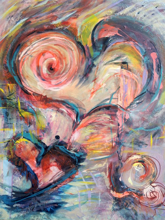 """Painting titled """"Love Chaos"""" by Mary Schiros, Original Art,"""