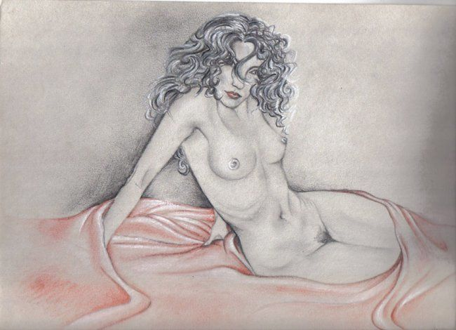 """Painting titled """"Nudo di donna"""" by Marydanart, Original Art,"""