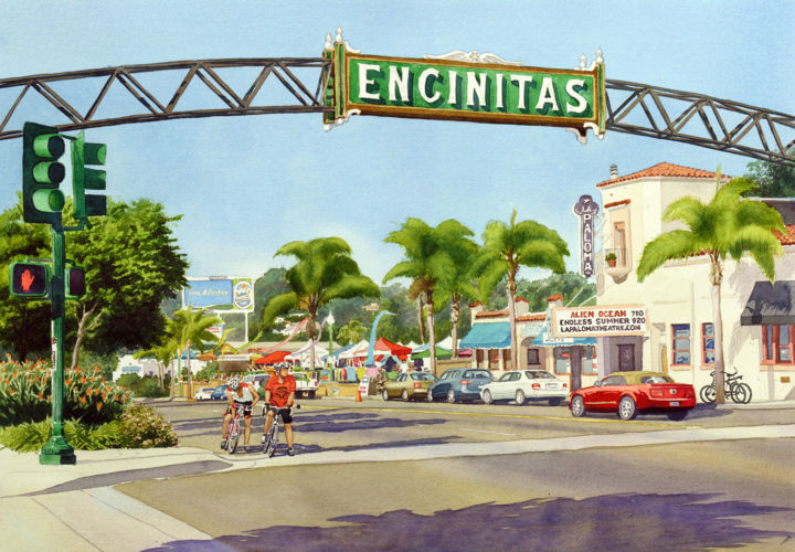 """Painting titled """"Encinitas California"""" by Mary Helmreich, Original Art,"""
