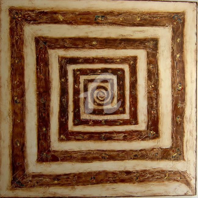 La Spirale - Painting,  39.4x39.4x0.4 in, ©2007 by Mary Larsson -
