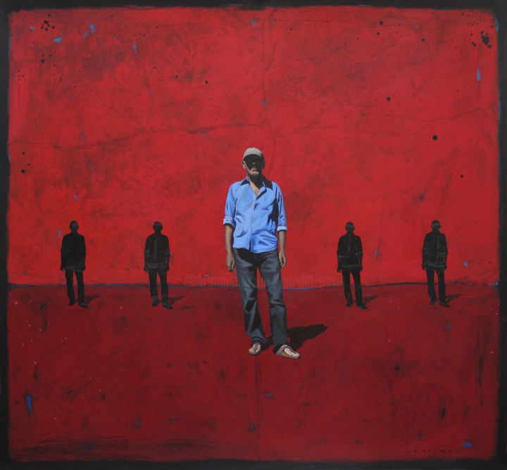 """Painting titled """"Les sentinelles"""" by Marylin Cavin, Original Art, Acrylic"""