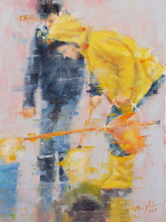 Chercheurs d'Or - Painting ©2015 by maryline mercier -