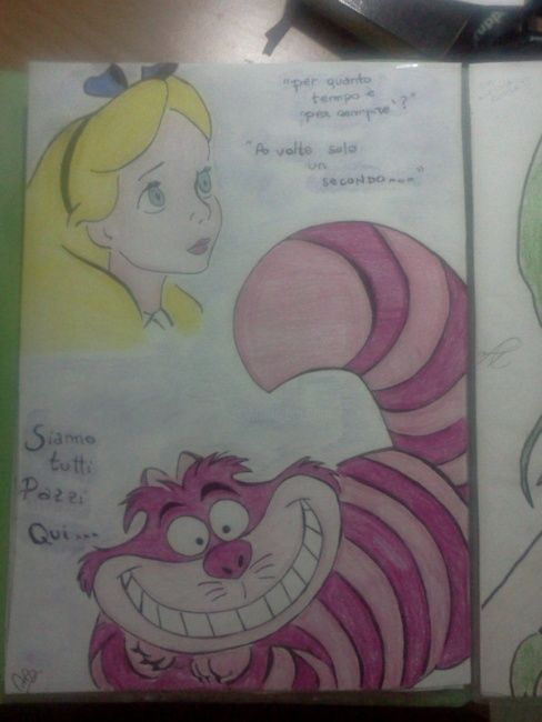 Alice in Wonderland - Drawing ©2012 by Marya97 -                            Colors, alice in wonderland drawing