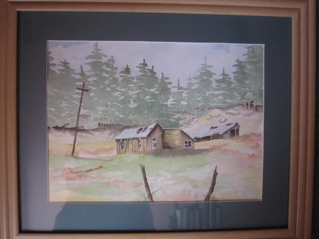 """Painting titled """"The Old Homestead"""" by Mary Ellen Metler, Original Art,"""