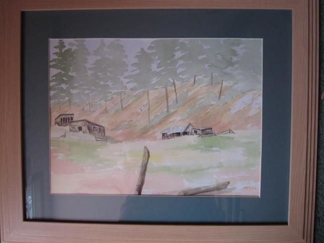 """Painting titled """"The Old Miner's Cab…"""" by Mary Ellen Metler, Original Art,"""