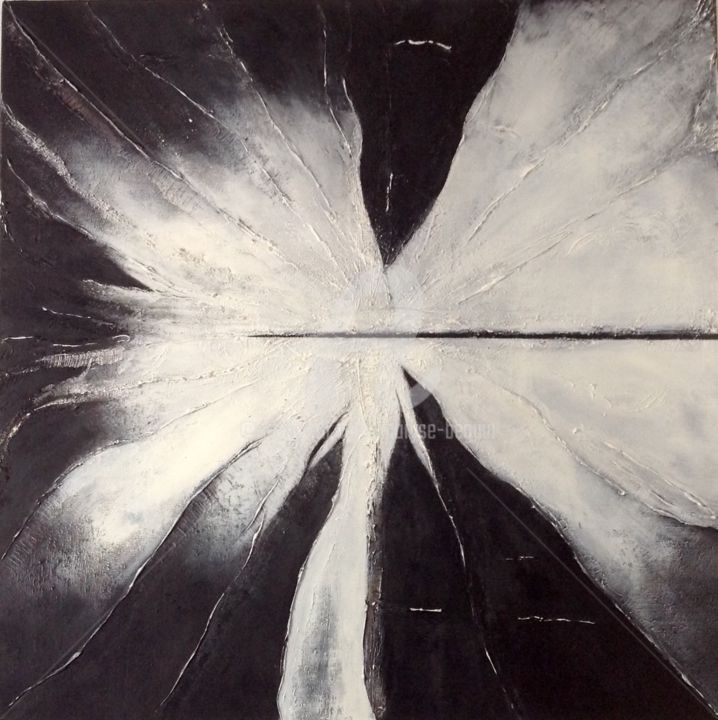 Après Toi - Painting,  39.4x39.4x1.2 in, ©2015 by Maryse Béguin -                                                                                                                                                                          Abstract, abstract-570, Abstract Art