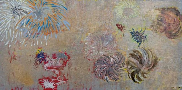 Painting,  30 x 60 cm ©2005 by Maryvonne Eche -  Painting