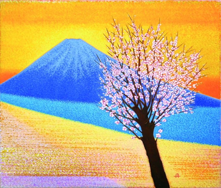 """Painting titled """"The spring breeze p…"""" by masami-tanno1, Original Art, Acrylic"""