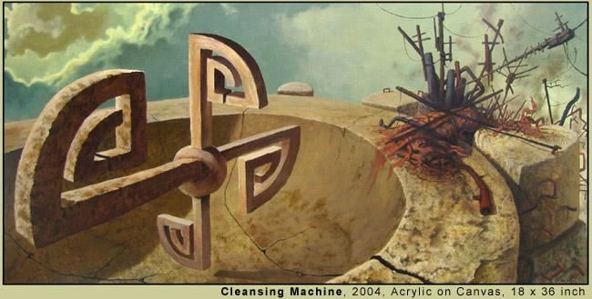 """Painting titled """"Cleansing Machine"""" by Daniel Tibbits, Original Art,"""