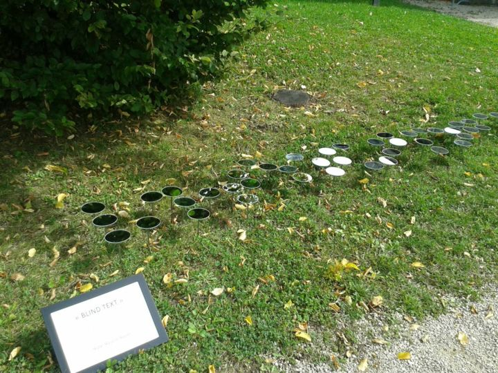 """""""Blind Text """"  Installation Annecy 2014 - Mixed Media ©2014 by Muriel Masurier-Rosset -"""