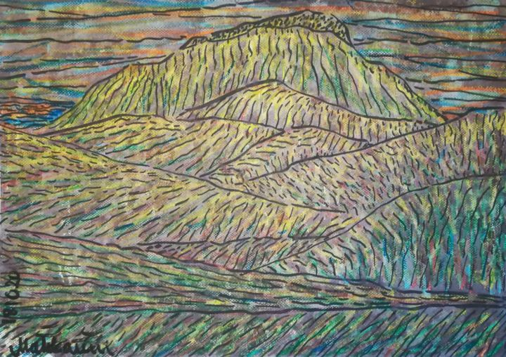 181020-mindscape-a3.jpg - Drawing,  29.5x42x0.1 cm ©2018 by Pertti Matikainen -                                                                                                            Expressionism, Figurative Art, Paper, Colors, Landscape, Nature, Spirituality, expressionism, expressionist, expressionistic, expressive, impressive, mindscape, inner, scape, landscape, natural, thing, nature, spiritual, spirituality, spiritualism, neoexpressionism, post, neo, automatist, automatic, automatism, improvisation, great, new, this, time, year, modern, contemporary, fine, best, greatest, excellent, top, art, arts, drawing, marker, oil, pastel, these, days, at, the, moment, in, finland, by, finnish, artist, drawer, pertti, matikainen, european, europe, nowadays, now, illustration, experimmental, experiment, imaginary, mountainscape, image, picture, green, is, my, color, drawings, graphic, design, designer, graphical, work, works, graphics, designing, illustrator, runnersup, running, up, a, hill, crawling, king, snake