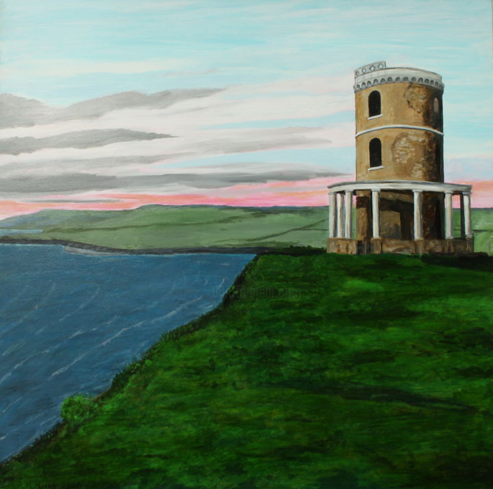 """Painting titled """"The Clavell Tower"""" by Robert Harris, Original Art, Oil"""