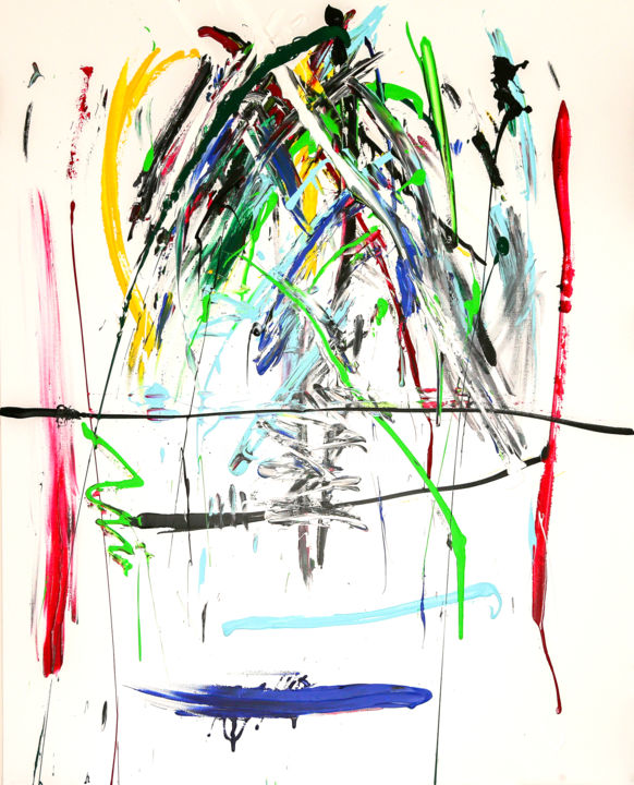 CHUTES - Peinture,  63,8x51,2 in, ©2016 par M A B -                                                                                                                          Abstract, abstract-570