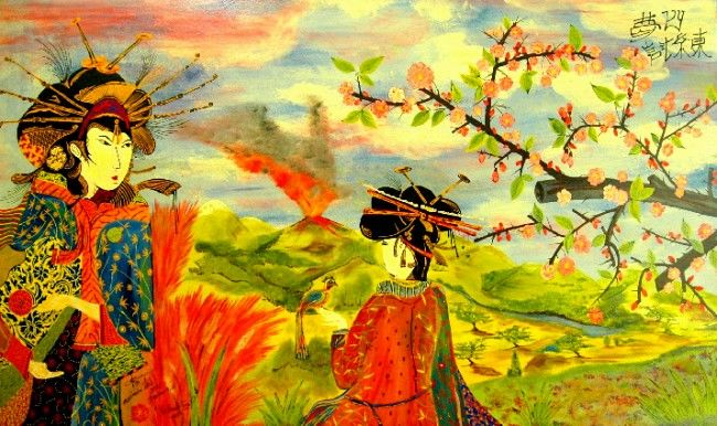 Tribulation / Dream 4 - OI - Painting,  30x60 in, ©2006 by Mhd59 -