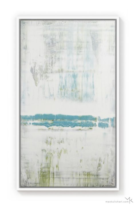 """Painting titled """"Azure Passion"""" by Max Kulich, Original Art, Acrylic"""