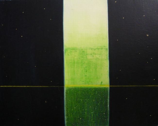 Nuit - Painting,  13x16.1 in, ©2007 by Maxime Mucret -