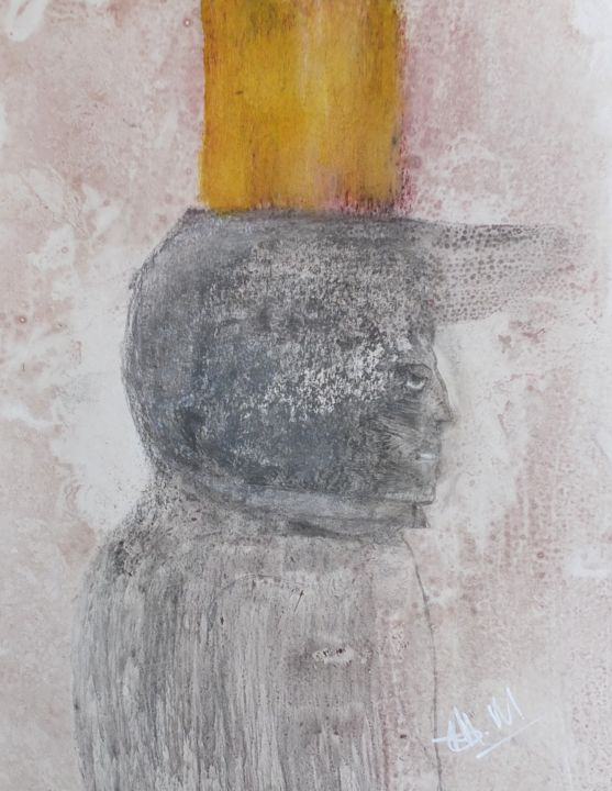 Sans titre - Painting,  19.7x15.8 in, ©2014 by Maxime Mucret -