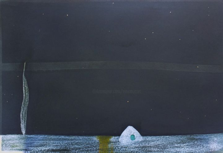 dscf9014.jpg - Painting,  19.7x27.6 in, ©2012 by Maxime Mucret -